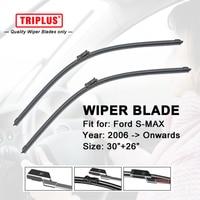 Wiper Blade For Ford S MAX 2006 Now 1set 30 26 Flat Aero Beam Windscreen Wiper