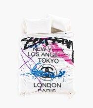 Текстиль для дома Queen Размеры 150×200 см Мода Stussy Одеяло модные белые Флисовое одеяло на кровать/диван 150*200 см Бесплатная доставка