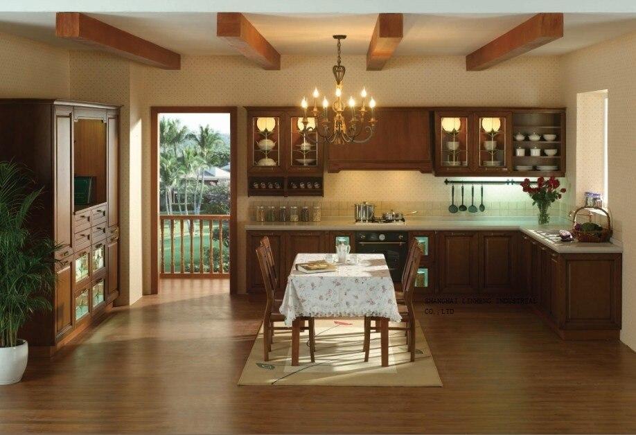 solid wood dark cherry wood kitchen cabinets(LH-SW059)solid wood dark cherry wood kitchen cabinets(LH-SW059)