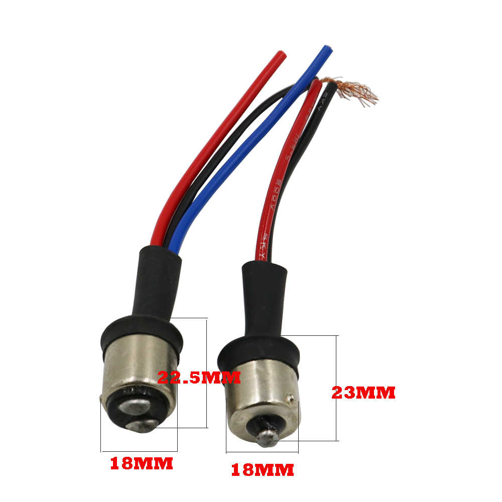 Y 50X פרטים על BAY15S 1156 BAY15D 1157 זכר מתאם שקע חיווט לרתום עבור זנב מנורת פנס אות Retrofit הנורה