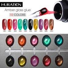 Huration желе стеклянные конфеты гель замочить от УФ желе прозрачный гель лак зеркало Титан летний атрибут гель лак для ногтей с фольгой