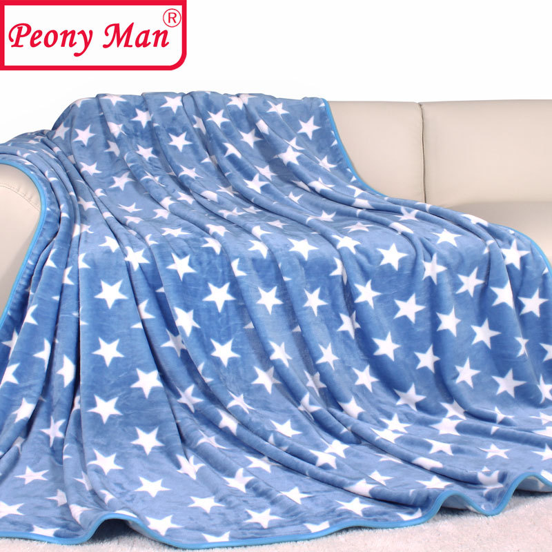 High Quality Flannel Baby Blanket Brand Star Thick Warm