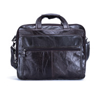 Nesitu Genuine Leather Mens Office Bag Men Briefcase Messenger Bags Business Travel Bag Portfolio 15 6