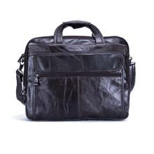 """Nesitu Echtes Leder Herren Büro Tasche Männer Aktentasche Messenger Bags Geschäftsreisetasche Portfolio 15,6 """"Laptop Tasche # M9912"""