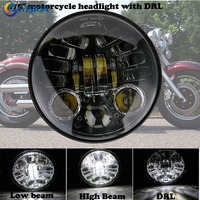 Round 5.75'' inch 70W LED headlights for Harley Davidson,harley Sportster,harley Dyna,Harley Softail 5 3/4'' led headlamp