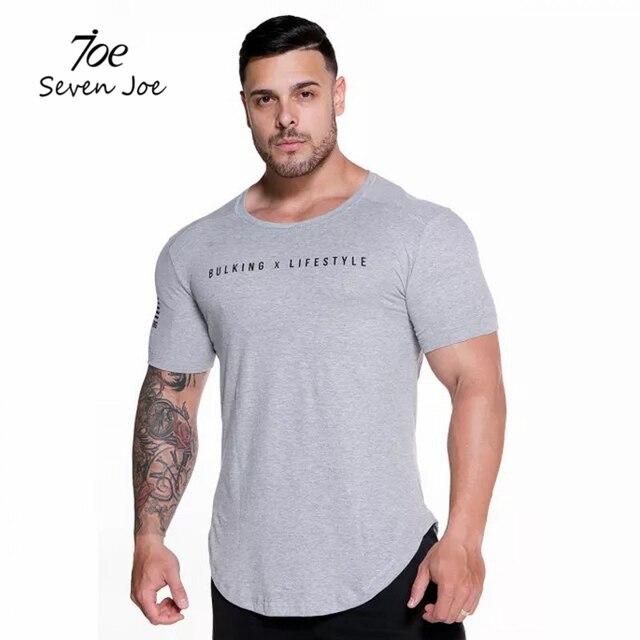 4a9abc5db Seven Joe New Men Casual GymS T-shirt Summer Cool Thin t shirts Man Short  sleeve Slim Fit Tee Tops Male Brand clothing