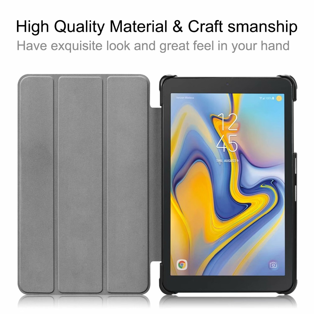 Case for Samsung Galaxy Tab A 8 0 T387 SM T387 2018 8 0 inch Ultra Slim Magnetic Cover Funda Tablet PU Stand shell in Tablets e Books Case from Computer Office