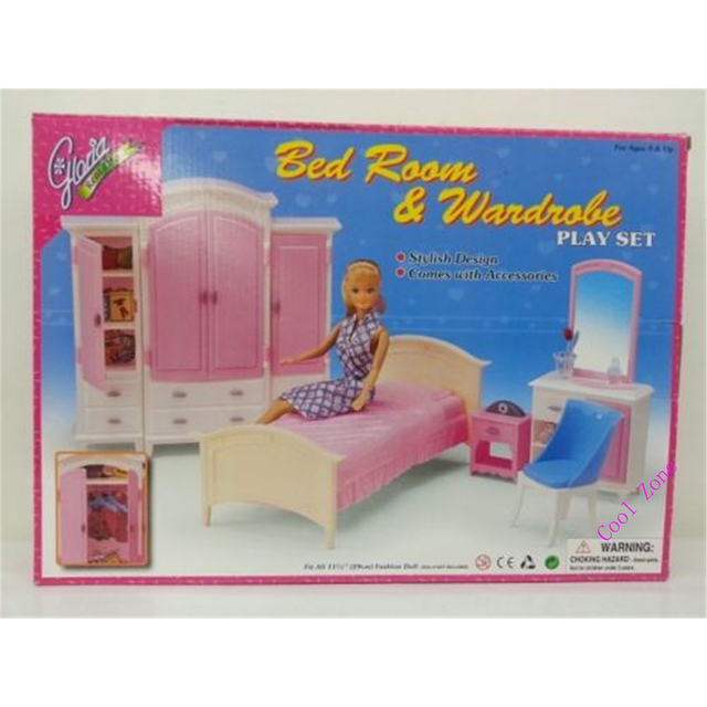 Mobili Camera Da Letto in miniatura e Guardaroba per Barbie Doll ...