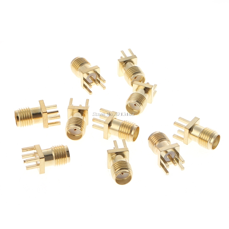 10 Pcs SMA Female Jack Solder Edge 1.6mm Space PCB Mount Straight RF Connector Dropshipping/323