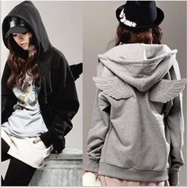 76c84a9c1ad New Women Fashion Korean Wings Casual Hoodie Jacket Coat tops Outerwear  Free Shipping