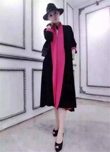 New winter high end women s long han edition coat color sweater with thick sweater coat