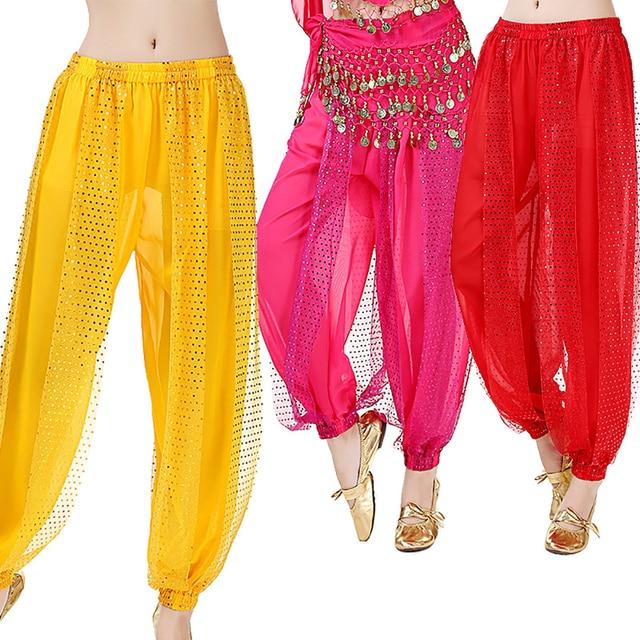 8d00975132 Hot Sale Belly Dance Pants For Ladies 11 Color Fringe Professional Pants  Ballroom Indian Class Practice Novel Trousers Q11110