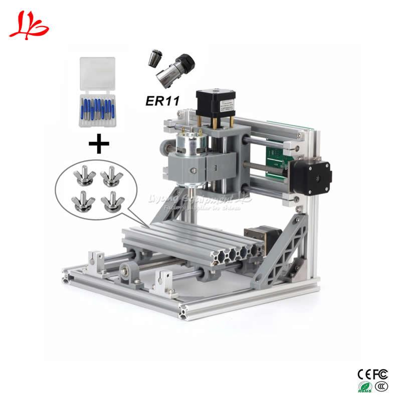 CNC 1610 Mini CNC Machine de gravure Laser 3 axes routeur de fraisage avec contrôle GRBL