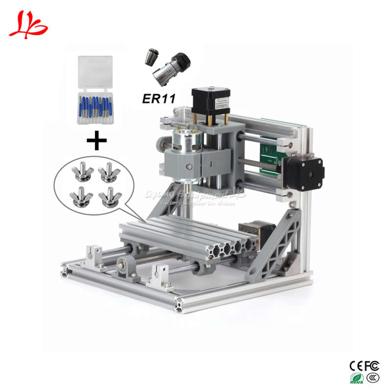 CNC 1610 Mini CNC Laser engraving Machine 3 Axis PCB Milling router with GRBL Control mini cnc engraving machine for sale 6090 mach 3 control system