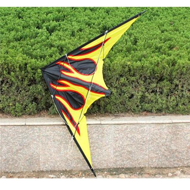 Novo Grande 63-Inch Linha Dupla Chama Stunt Kite Engraçado Brinquedos Presente Para As Crianças Crianças Iniciantes Do Esporte Ao Ar Livre