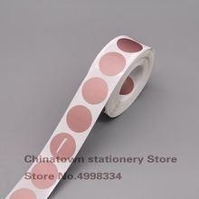 1000' шт упаковка stickers1 inch круглые розовое золото