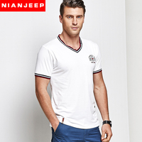 Original Brand NIANJEEP Men T Shirts New 2017 Spring Summer Cool Shirt Business Fashion Aeronautica Militare