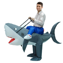 Shark Inflatable Costume Purim Halloween Carnival Cosplay Anime Party Animal Women Men Adult Fan Operated