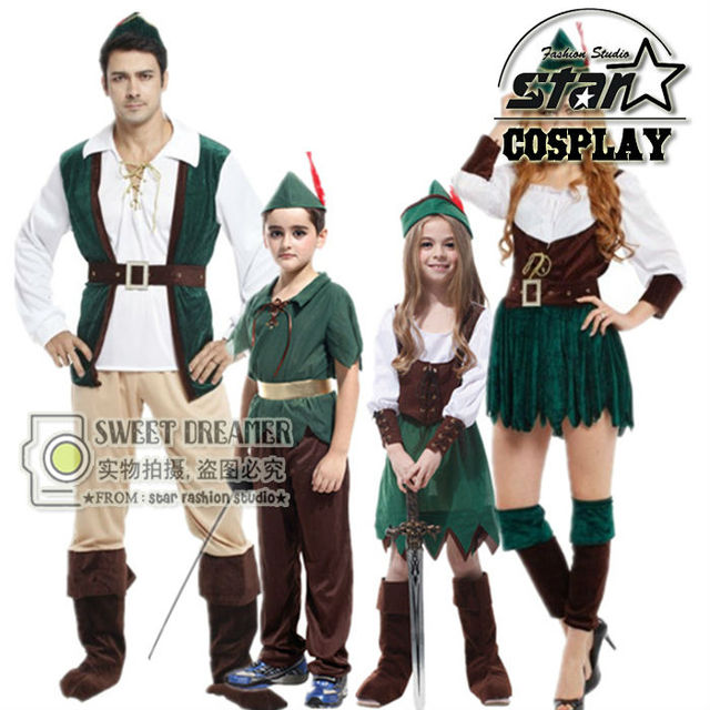 Father and Mother Halloween Costumes Peter Pan Cosplay Costumes Carnival Party Family Couple Matching Boys Girls  sc 1 st  AliExpress.com & Father and Mother Halloween Costumes Peter Pan Cosplay Costumes ...