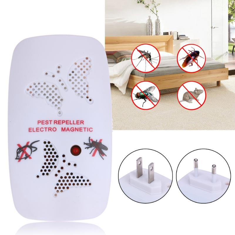1 pc Ultrasonic Electronic Pest Repeller Indoor Bug Control Repeller Rat Mosquito Killer Mouse Bug Insect Repeller US/EU Plug