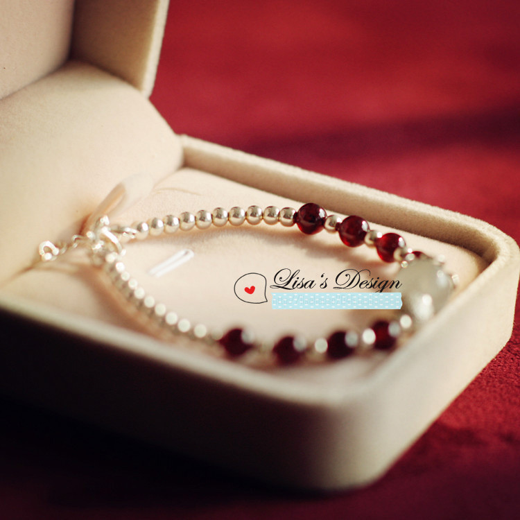 Diy Unique Bracelet Sillver Beads With Moonstone And Garnet Special Gift For Friend Mother Find Deicate Present Lady In Charm Bracelets From