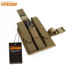 EXCELLENT ELITE SPANKER Outdoor Tactical KRISS/MP7 Magazine Pouch Drop Leg Rig Hunting Military Molle Accessories Cartridge Bags