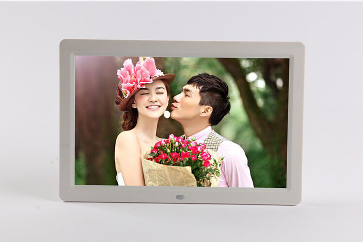 12 inch led display multi media digital photo frame with holdermusic movie