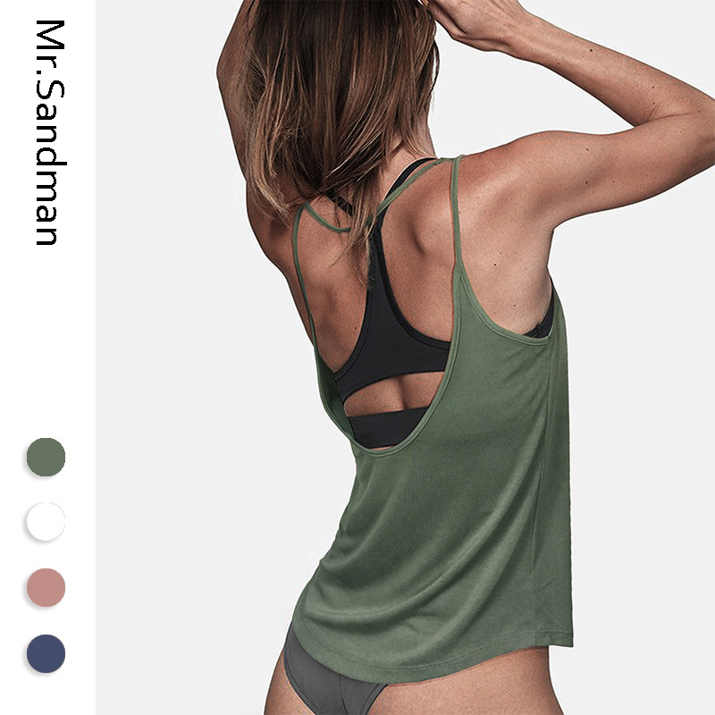 Sexy open back yoga top for women sleeveless wokout gym crop top breathable jogging vest fitness women running shirts gym top