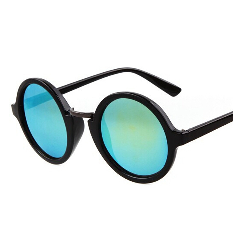 New 2016 Unique Round Sunglasses Women 80S Vintage Curved Bridge Of The Nose Thin Leg -8317