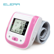 NEW!! PINK Automatic Wrist Blood Pressure Monitor Digital Wrist Blood Pressure Meter Tonometer Sphygmomanometer Tensiometro цена в Москве и Питере