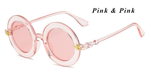 L'aveugle Par Amour Round Sunglasses Women Distinctive Fashion Sunglasses Men Unique Brand Designer Retro Sun glasses uv400