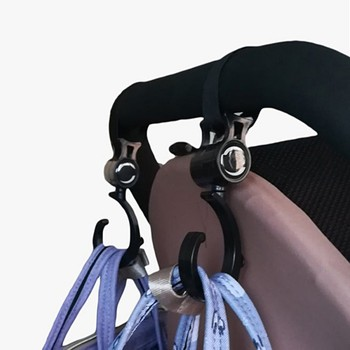 2pcs Baby Hanger Baby Bag Stroller Hooks Pram Rotate 360 Degree Cart Hook Accessories