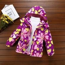 Jackets Outfits Coat Printing Baby-Girls Waterproof Winter Children Warm Fashion Cotton