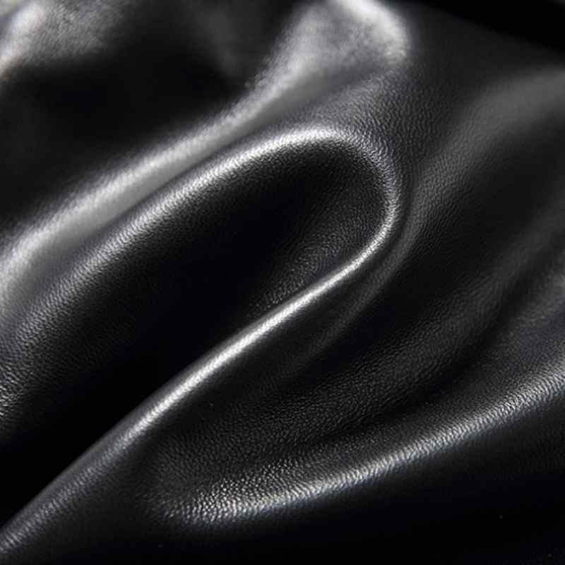 2019 nuevos pantalones cortos de piel de oveja negros sexis de alta calidad ajustados para mujer Pantalones cortos rectos 3XL - 5