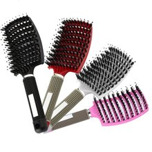 7 Color Women Hair Scalp Massage Comb Bristle Nylon Hairbrush Wet Curly Detangle Hair Brush for Salon Hairdressing Styling Tools