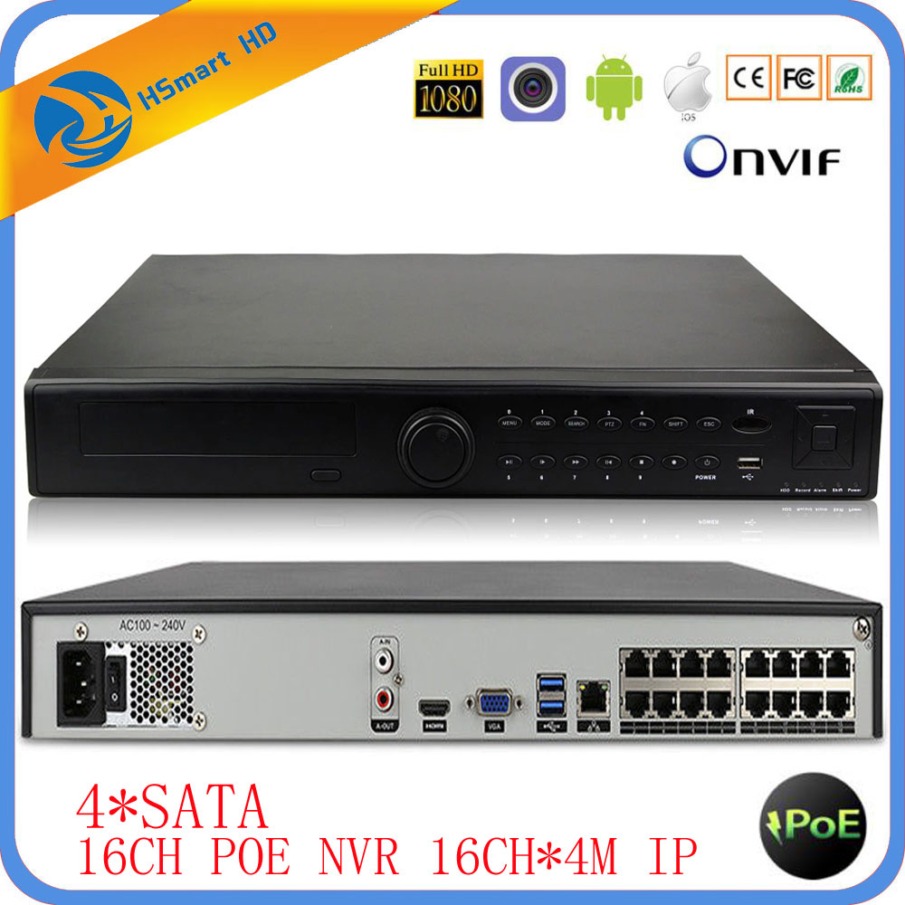 32CH 1080P NVR 16CH POE NVR 16CH 4.0MP IP POE Camera Xmeye P2P Cloud System Surveillance Support VGA HDMI ONVIF 4 SATA HDD 6TB hikvision ds 7716ni i4 ds 7732ni i4 12mp 16ch 32ch nvr security surveillance digital video recorder onvif protocol 4 hdd ports