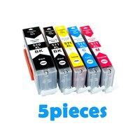 5pcs PGI570 PGI 570 CLI 571 Compatible Ink Cartridges For Canon PIXMA MG5750 MG5751 MG5753 MG6850