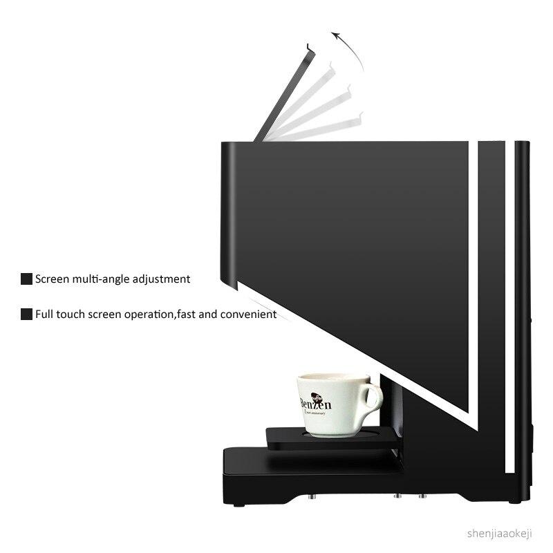 Máquina automática de dibujo de café con leche, máquina táctil inteligente, tapa de leche, espuma, leche, té, patrón de flores, equipo de impresora 220V - 4