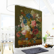 купить 3d Oil Painting Flower and Vase Pattern Shower Curtains Bathroom Curtain Thicken Waterproof Thickened Bath Curtain онлайн