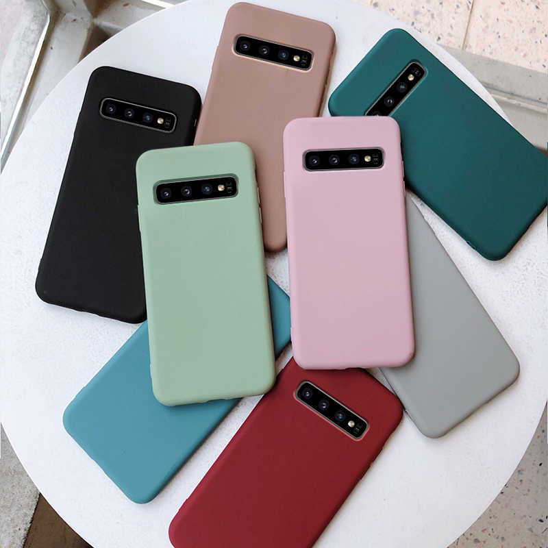 chyi thin case for samsung galaxy s10 s9 s8 plus case soft silicone for samsung galaxy s7 edge s10e lite case for note 8 9 shell