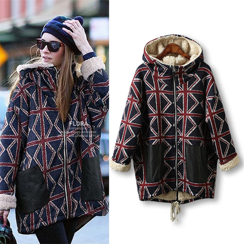 Hodisytian 2017 Winter Fashion Women Parkas Casual Thicken Wadded Hoodie Cashmere Coat Hooded Long Padded Overcoat Plus Size