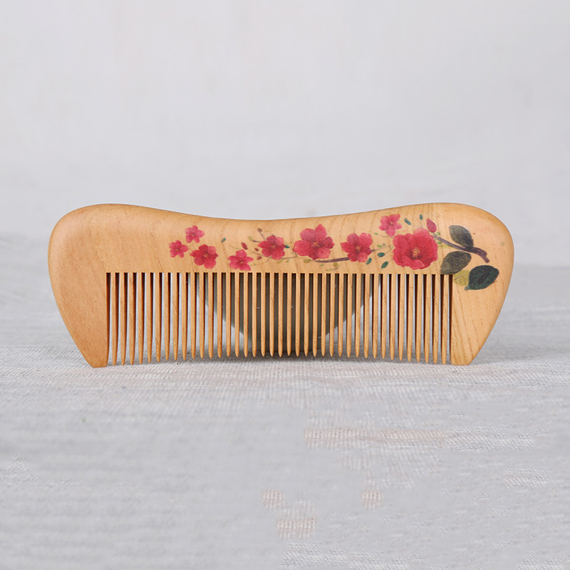 Authentic Wooden Comb Natural Party makeup brushes Quality Handmade professional Red sandalwood wooden hair combs hairbrushes