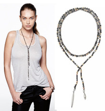 European fashion jewelry S-D-J zoe lariat  Necklace hematite -Free Shipping