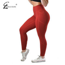 CHRLEISURE Sexy Push Up Leggings para Fitness mujer alta cintura entrenamiento Legging mujer ropa deportiva Leggins mujer 5 colores(China)