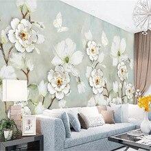 Custom 3d wallpaper butterfly dance full of three-dimensional background wall high-grade waterproof material