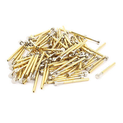 цена на 100 Pieces P156-G 4.0mm Flat Tip Spring PCB Testing Contact Probes Pin Free shipping