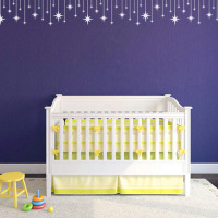 Different Stars Vinyl Decals Baby Nursery Bedroom Wall Art Mural Design Fashion Wallpaper Kids Wall Sticker