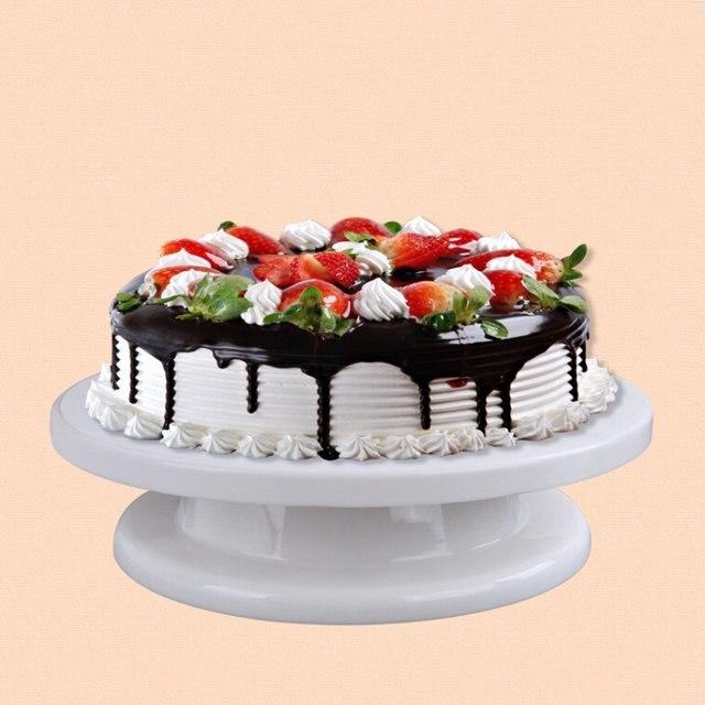 Online Shop prato de bolo decoracao rotating cake plate Rotate