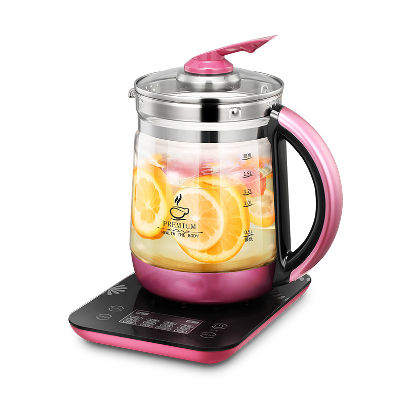 цена на NEW Health pot automatic thickening glass multi-functional office flower tea health mini 1.8L
