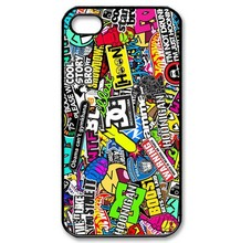 Hoonigan Ken Block Smiley DC Various Brands Logo Graffiti Sticky Bomb Hard Cover Case for iphone